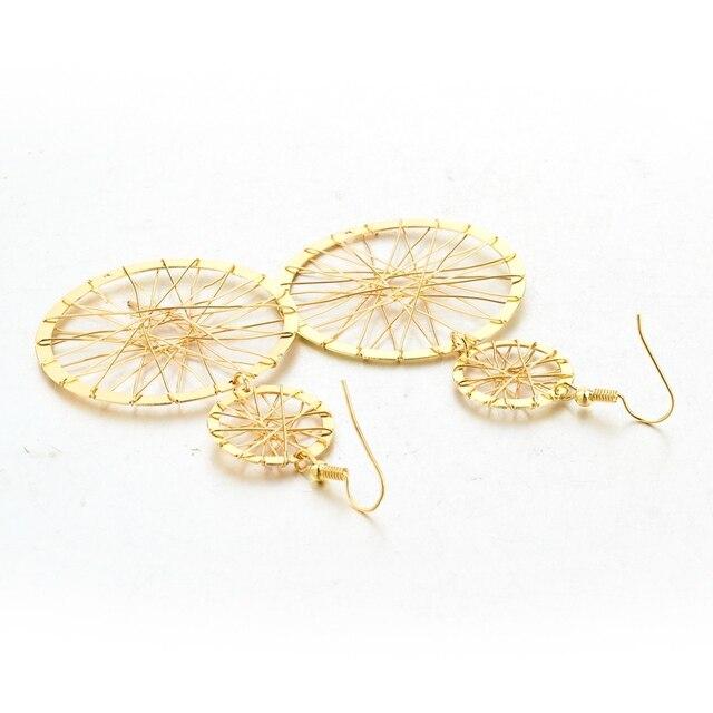 Chicvie этнические круглые серьги капельки для женщин золотого
