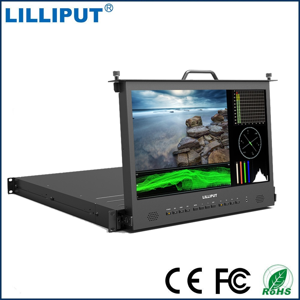 Lilliput RM-1730S 17.3 3G SDI Monitor Broadcast Director Monitor Full HD 1920*1080 IPS 1RU RACK MOUNT Monitor HDMI Tally VGA new aputure vs 5 7 inch 1920 1200 hd sdi hdmi pro camera field monitor with rgb waveform vectorscope histogram zebra false color
