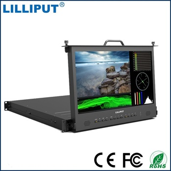 "Lilliput RM-1730S 17.3"" 3G SDI Monitor Broadcast Director Monitor Full HD 1920*1080 IPS 1RU RACK MOUNT Monitor HDMI Tally VGA"