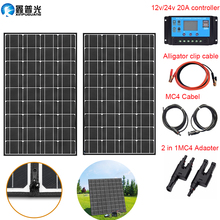 140w (2*70w) 18v Flexible Foldable Mono Solar Panel Kit Portable 100w home USB Charger for Hiking camping Car&Boat 12v battery
