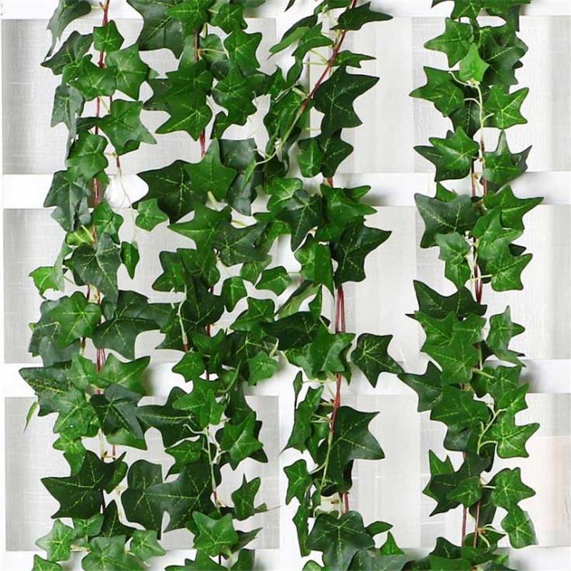 Artificial Plant Green Leaf Ivy Wall Decor Room Decoration Fake Plants Wedding Plastic Vine Indoor