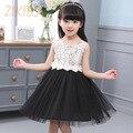 Children Summer Dress Kids Dresses for Girls Casual Korean Fashion Flowers Decor Dress Girl Cute Bow Organza Girls Clothes