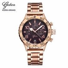 De PRIMERA Marca de Lujo Relojes de Oro de Cuarzo de Las Mujeres Relojes Señoras Reloj de Pulsera de Acero Completo Relojes Mujer Relojes Correa de Círculos
