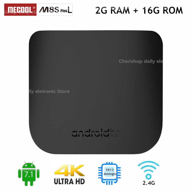 MECOOL M8S PLUS L TV Box Amlogic S912 Android 7.1 2GB RAM + 16GB ROM 2.4G WiFi 100Mbps BT4.2 Support 4K H.26 5 Set Top Box недорого