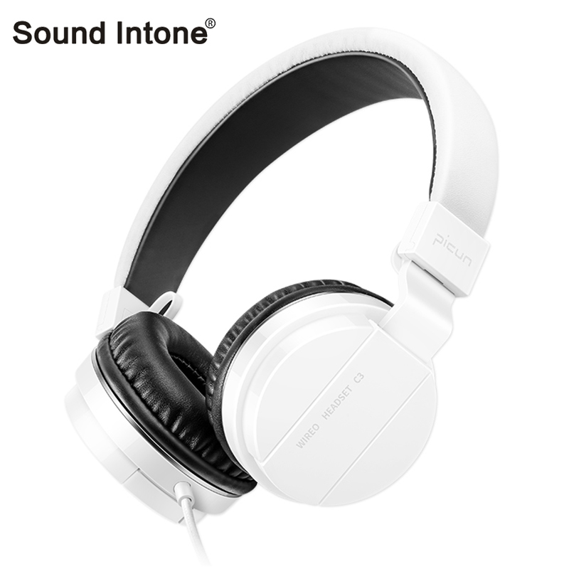 Sound Intone C3 fidelity Wired Headphones with Microphone Over Ear Headphone Bass HiFi Sound Music Stereo Headset for iPhone PC merrisport bluetooth headphones with microphone over ear foldable portable music bass headsets for iphone htc cellphones laptop