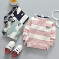 High Quality Kids Boys Polo Shirt Baby Boy Clothes Spring Long Sleeve Cotton Striped Detachable Collar Tshirt Toddler 6-24month