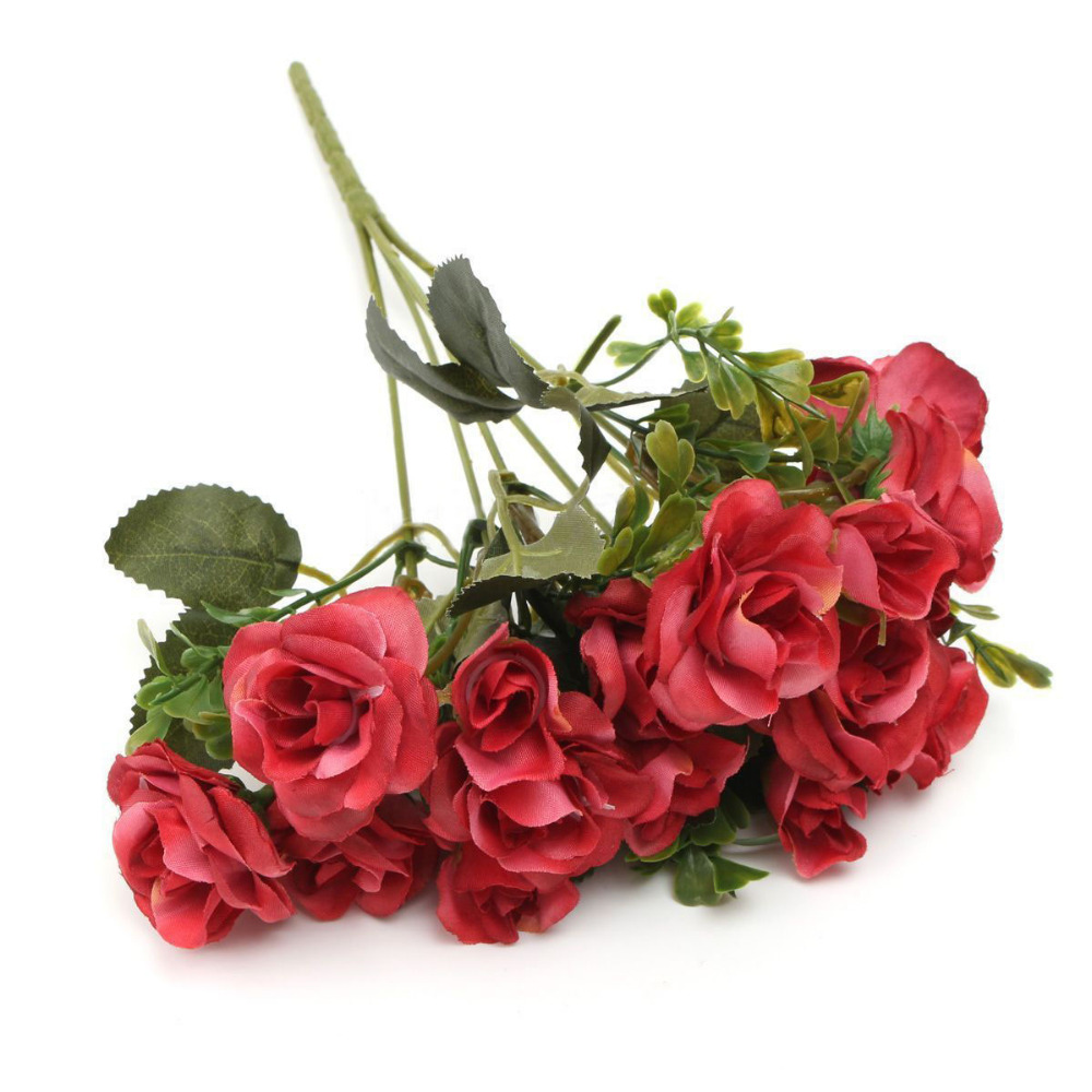Aliexpress buy 2018 new graceful 15 heads autumn silk flowers aliexpress buy 2018 new graceful 15 heads autumn silk flowers artificial rose bridal flower arrangement for home decor valentines day gift from mightylinksfo