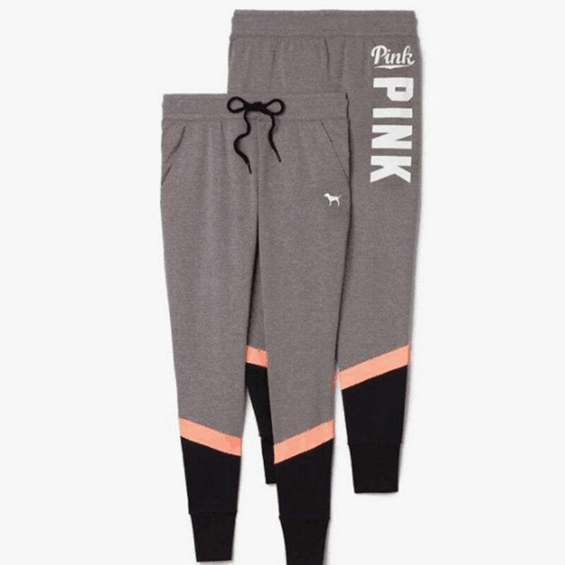 2017 Women Vs Love Pink Letter Print Workout Leggings Women Cotton Slim Fitness Legging Sporting Adventure Time Legging P34 Z30