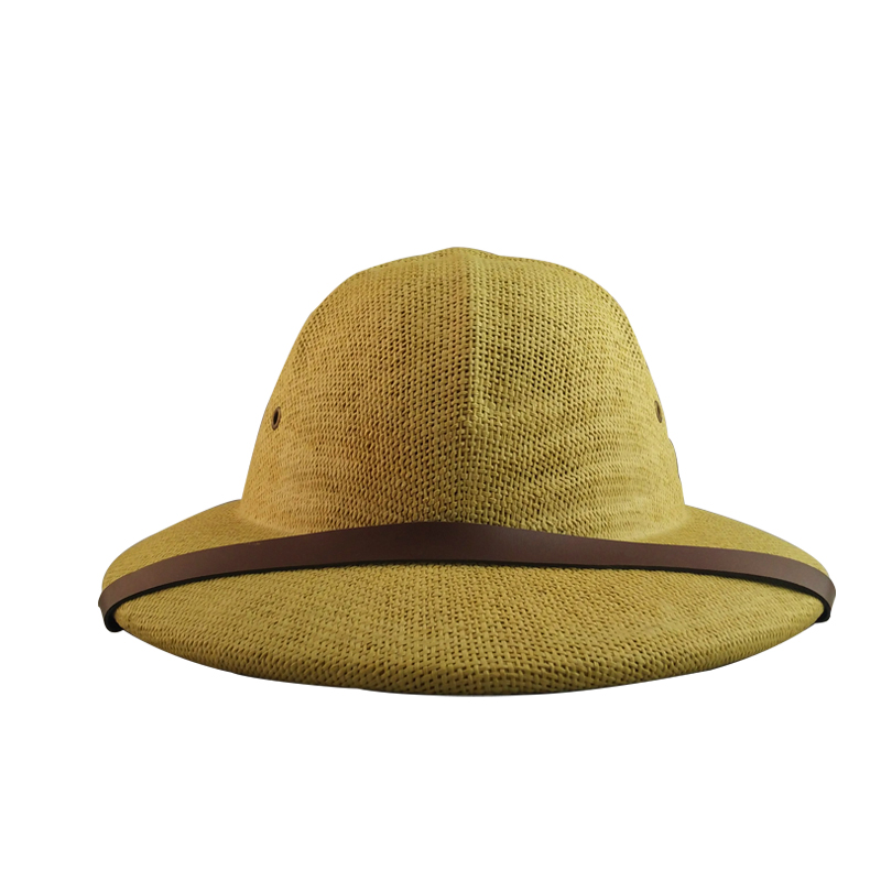 da5b0948837ae Hamiotwo Summer straw sun hat bucket hat Helmet Toyo Pith Safari Jungle Hat  With Sweatband for Miners Cap-in Sun Hats from Apparel Accessories on ...