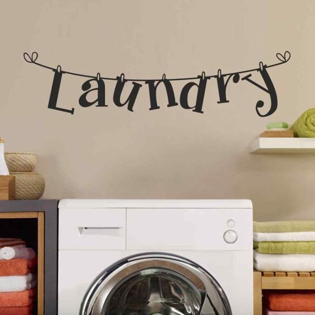 BATTOO Laundry Room Wall Decals Stickers Wall Decor  Home Supplies    Houseware Poster