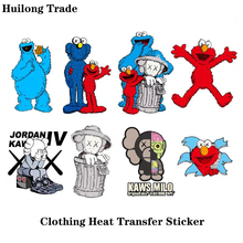 Small cute Sesame Street clothes hot transfer sticker fashion decorative ironing sticker DIY T-shir Luggage jacket, Patch patch цена