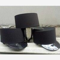 Siyah kısa otel kapı adam şapka askeri şapka çin guard hat otel ürünleri siyah şapka restoran