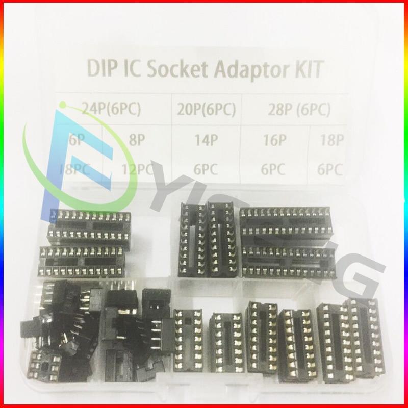 2 PACK 40 Pin DIP40 Integrated Circuit IC Sockets Adaptor Solder Type -
