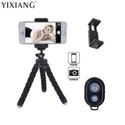 Yixiang estilo polvo portátil e ajustável tripé suporte para iphone, celular, câmera com universal clipe e remoto