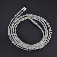 New 8 Core Upgrade Silver Cable 7N Single Crystal Copper Plated Cable 2 5mm MMCX For