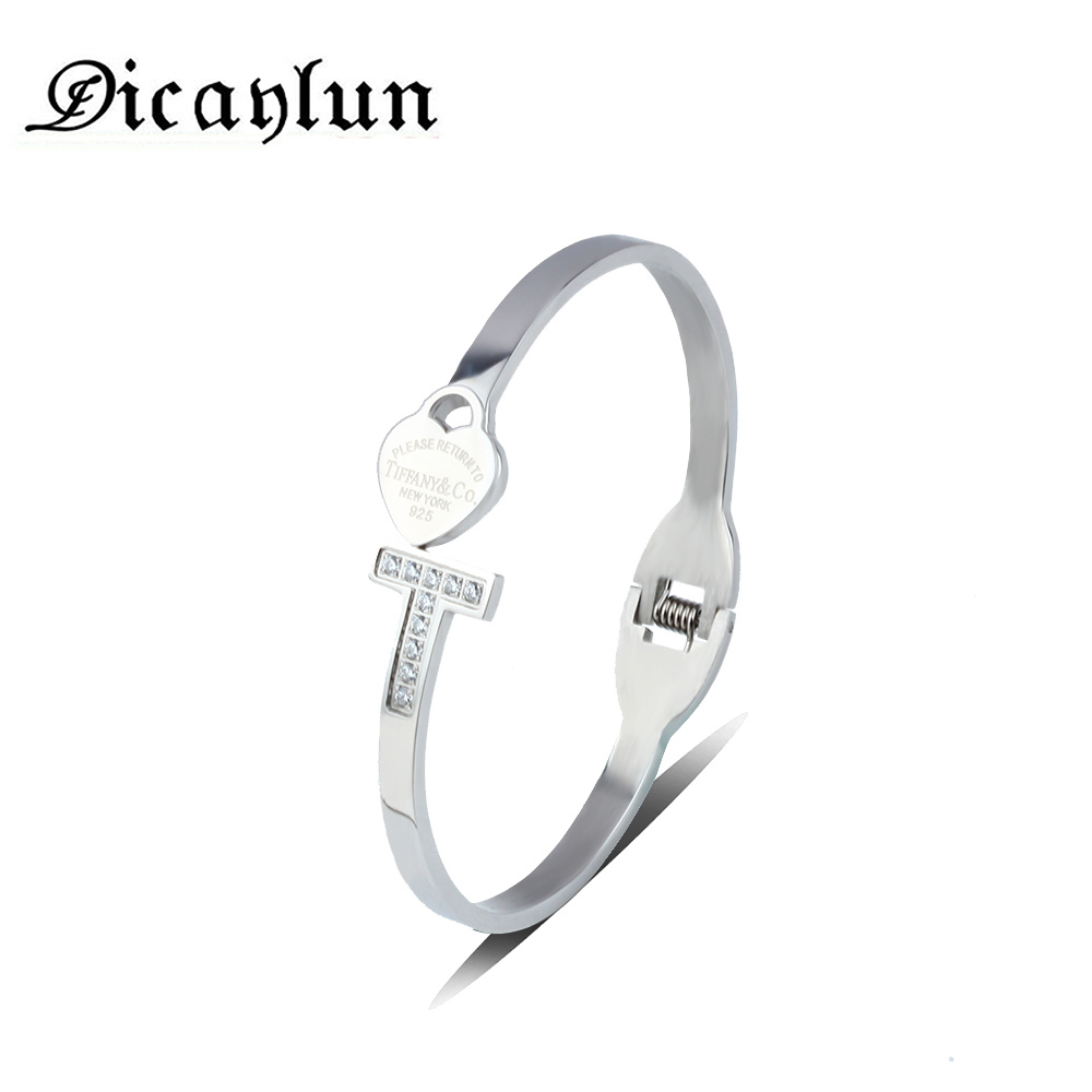 DICAYLUN friendship heart bracelets & bangles charms bracelet femme gifts for women braslet chain stainless steel bracelet блуза love republic love republic lo022ewpdn44