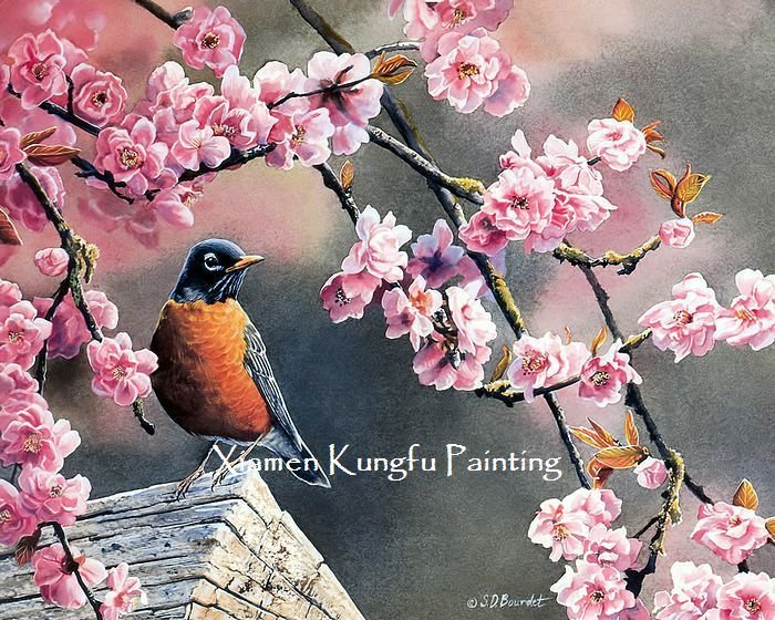 Hand Paint Animal Oil Painting Technique Canvas Wall Art Home Decoration Modern Set