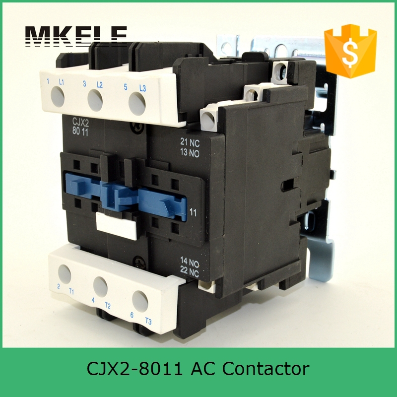 цена на CJX2-8011 3P+NO+NC 80a 380v Coil Voltage Three Phase Contactor 380v Coil Ac Contactor With 85% Silver Contacts