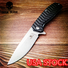 205mm 100% D2 Blade Ball Bearing Knives G10 Handle Folding Knife Survival Camping Tool Pocket Knife Tactical Outdoor EDC Tool brand d2 blade all steel nc handle bearing folding knife outdoor camping survival tool hunting tactical edc knives