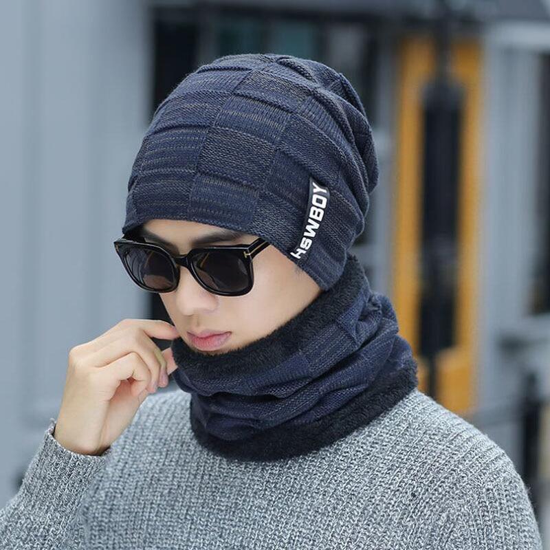 BING YUAN HAO XUAN Winter Hats Men Scarf Knitted Hat Caps Mask Gorras Bonnet Baggy Winter Hats For Men Women Skullies Hats in Men 39 s Skullies amp Beanies from Apparel Accessories