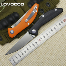 LOVOCOO SIGMA rollover bearing folding knife D2 blade G10 handle outdoor camping hiking hunting pocket fruit