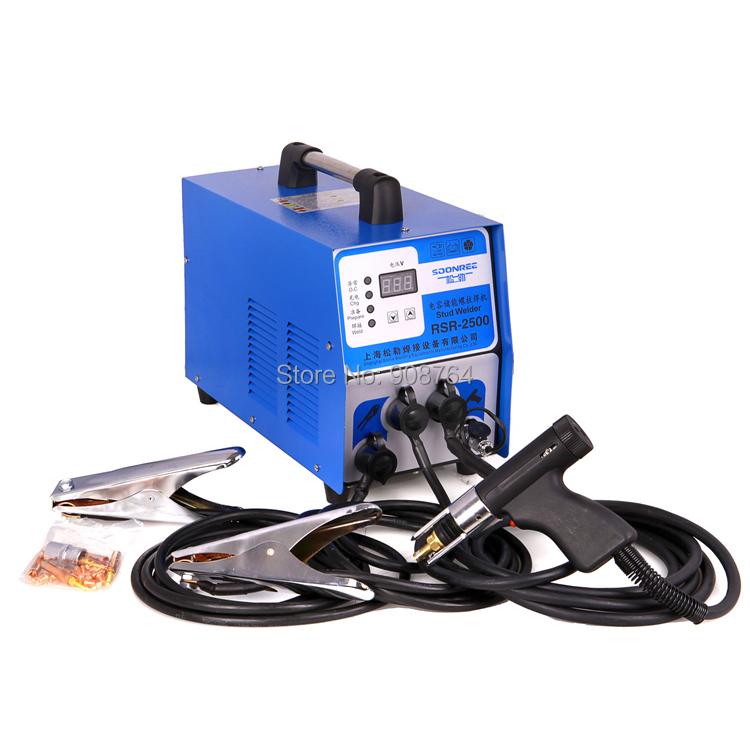 stud welder aluminum RSR-2500 capacitor discharge stud welder for welding bolt plate insulation nail screw 320pc capacitor discharge welding studs ws 320