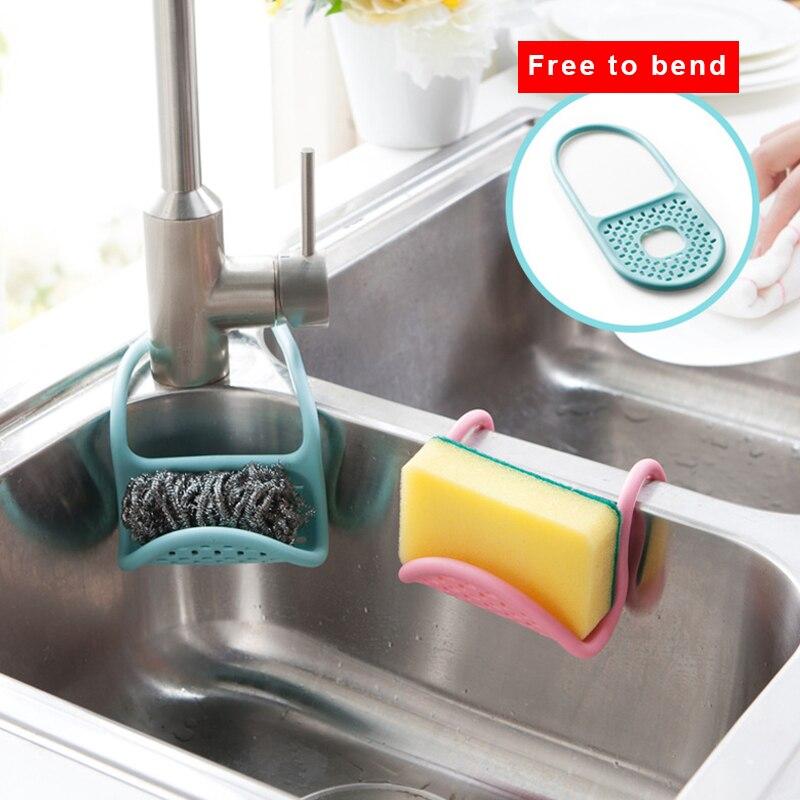 1 stücke Küche Waschbecken Hängen Aufbewahrungstasche Rack ...