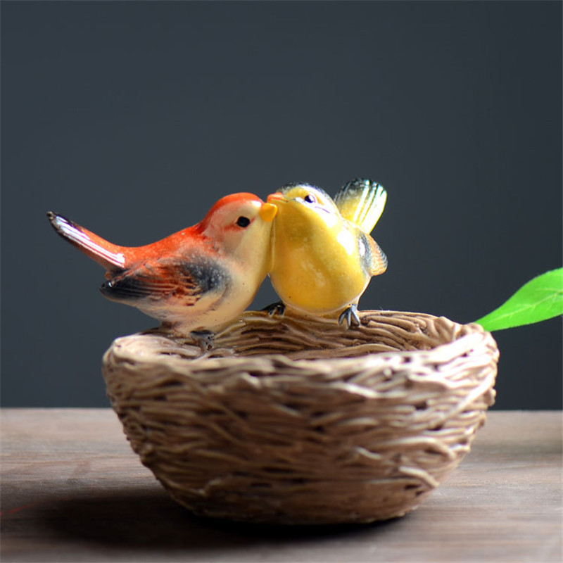 Online get cheap decorative birds nest for Artificial birds for decoration