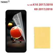 Glossy Clear LCD Screen Protector for LG K10 2017 K8 2018 Protective Film on for LG K10 2018 K8 2017 Screen Protector Film Foil стоимость