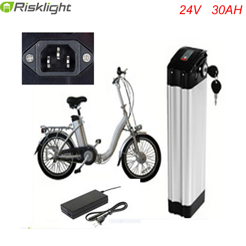 Top discharge 24v 30ah lithium ion ebike battery aluminium case bicycle electric bike battery 24v 700w with charger and bms free taxes 24volt lithium ion battery 24v 20ah electric bicycle kit 24v e bike battery with bms and charger for panasonic cell