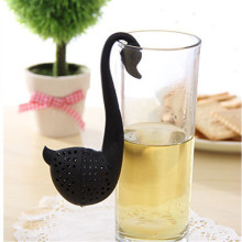 Novelty Tea Infuser Swan Loose Tea Strainer Herb Spice Filter Diffuser Black and White Hot Sale  jan193M