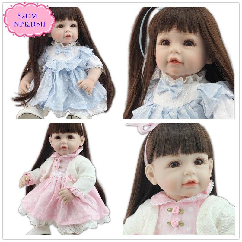 Princesse 20 pouces 50 cm Adora bébé poupée avec de longs cheveux doux peut faire beaucoup de Style de cheveux belle Reborn bambin poupées bon prix poupée