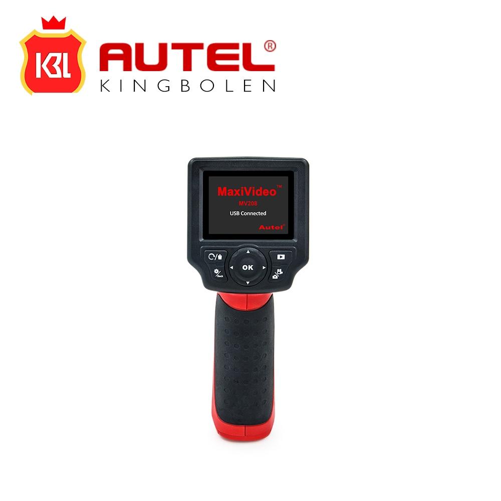 "Цена за Autel MaxiVideo MV208 Цифровой инспекции Videoscope диагностический boroscope камеры эндоскопа 8.5 мм Imager глава 2.4 ""экран"