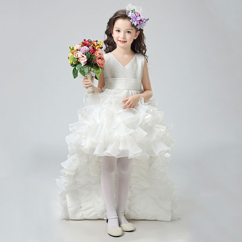Aliexpress.com   Buy Girl Dresses 2017 Summer New Nimble Girl Dress  Jacquard Ball Gown Handmade Flowers Girls Clothes kid Mermaid Kids Wedding  Dress from ... f0207fa07c21