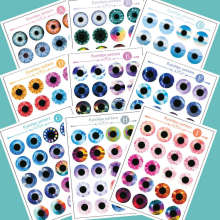 Blythe Doll Eyechip Patterns Eyechips Tools Customization Kit