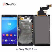 50/100 szt/dużo dla Sony Xperia Z2a D6563 ZL2 wyświetlacz LCD IPS ekran dotykowy z/bez ramki Digitizer zgromadzenie wymiana część oryg