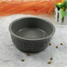 Free Shipping Dog Bowl  Food Container Ceramics Pet Supplies Cat Portable Flower Shaped 50GP004