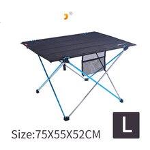 Mesa plegable portátil de aleación de aluminio para acampar al aire libre soporte de ocio multifuncional para viaje espesante barbacoa de picnic