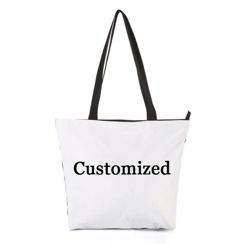 CROWDALE DIY Customizer Women Bags 3D- Printing Shoulder Bag Handbags Casual Tote Handbag Female Canvas Lady Bag 44.5x35cm