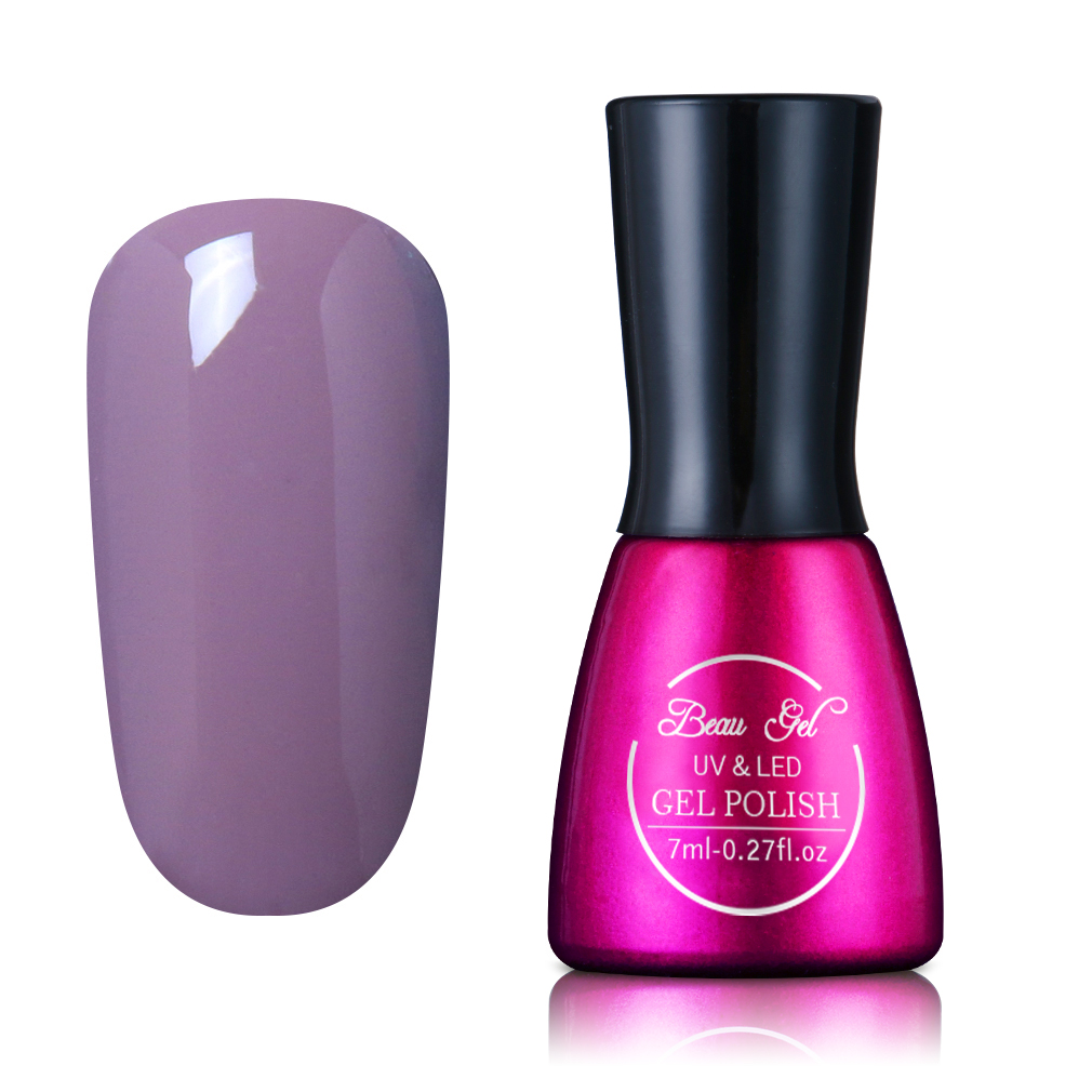 Beau Gel 7ml UV Gel Nail Polish Long Lasting Pure Color Rendam Off - Seni kuku - Foto 6