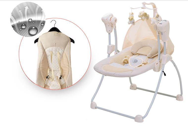 2ff67185d96 Automatic Baby Vibrating Chair Musical Rocking Chair Electric Recliner  Cradling Baby Bouncer Swing with remote control-in Bouncers