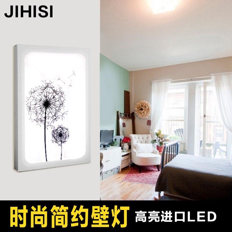 Işıklar ve Aydınlatma'ten Duvar Lambaları'de LED uzaktan kumanda odası koridor duvar lambası başucu lambası duvar lambası yeni Çin modern minimalist akrilik title=