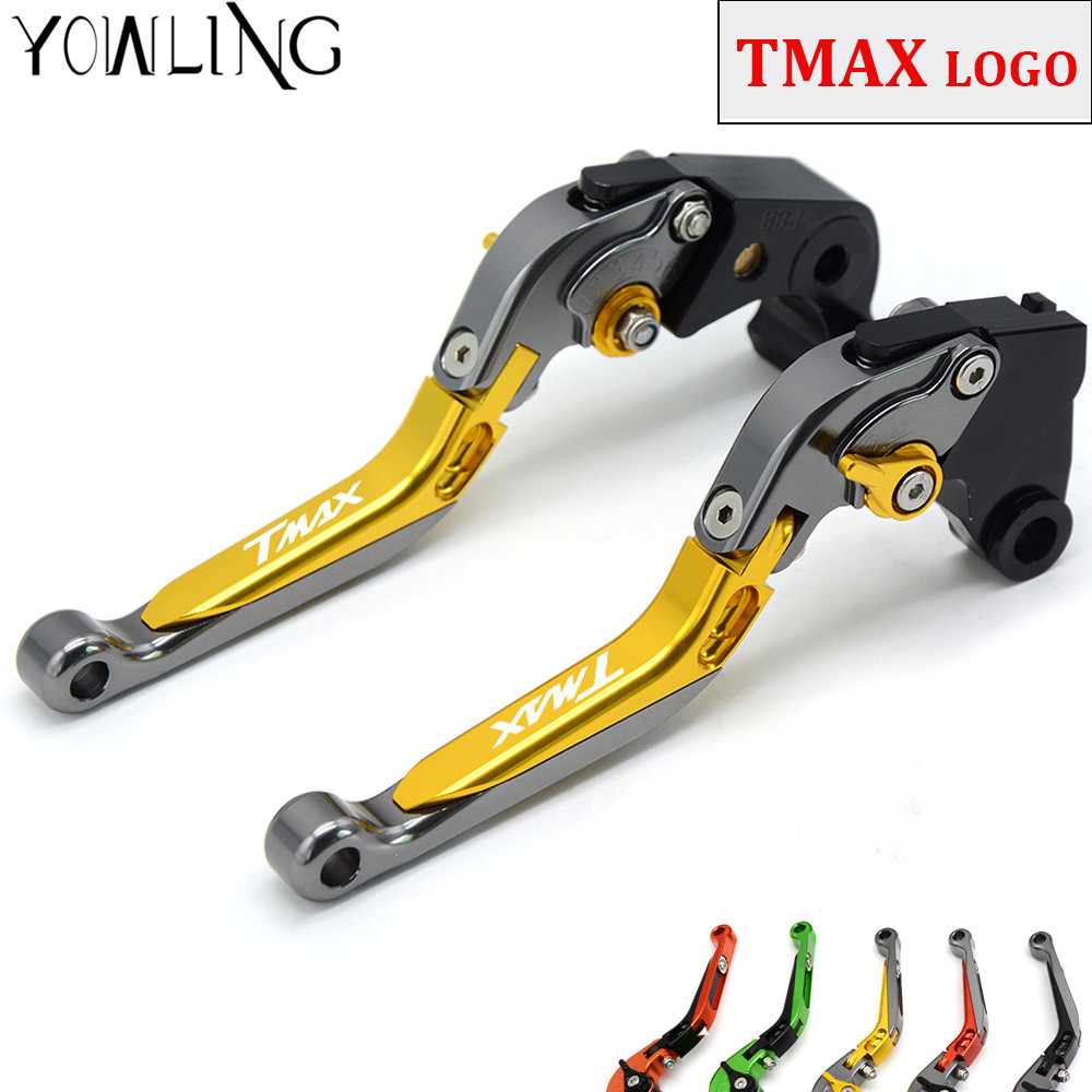 CNC Motorcycle Brakes Clutch Levers For YAMAHA XP 500 T-MAX530 T-MAX500 TMAX 500 TMAX500 2001 2002 2003 2004 2005 2006 2007 cnc aluminum motorcycle rear passenger foot pegs pedals footrests for yamaha tmax 500 tmax 530 t max500 t max530 t max mt07 mt09