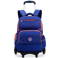 GUMST Removable Children School Bags With 6 Wheels For Girls Boys Trolley Backpack Kids Wheeled Bag