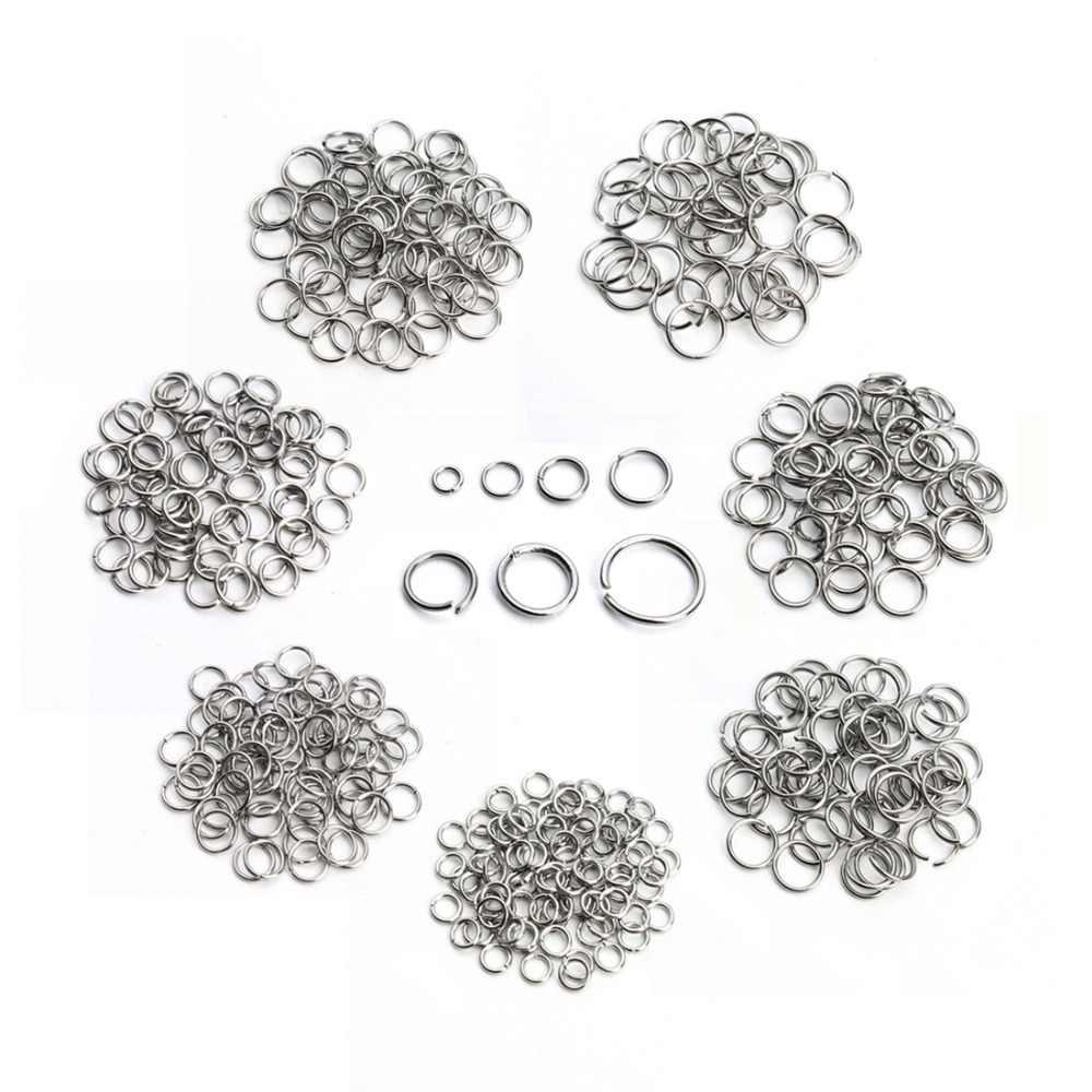 SAUVOO 1 Pack Edelstahl Geöffnete Sprung-Ring Gold Silber Double Loop Split Ring Stecker für DIY Halskette Schmuck Lieferant