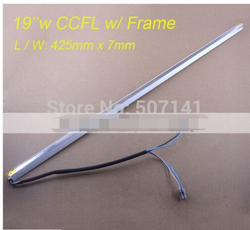 19'' Inch Wide Dual Lamps CCFL With Frame,LCD Lamp Backlight With Housing,CCFL With Cover,CCFL:419mmx2.4mm,FRAME:425mmx7mm