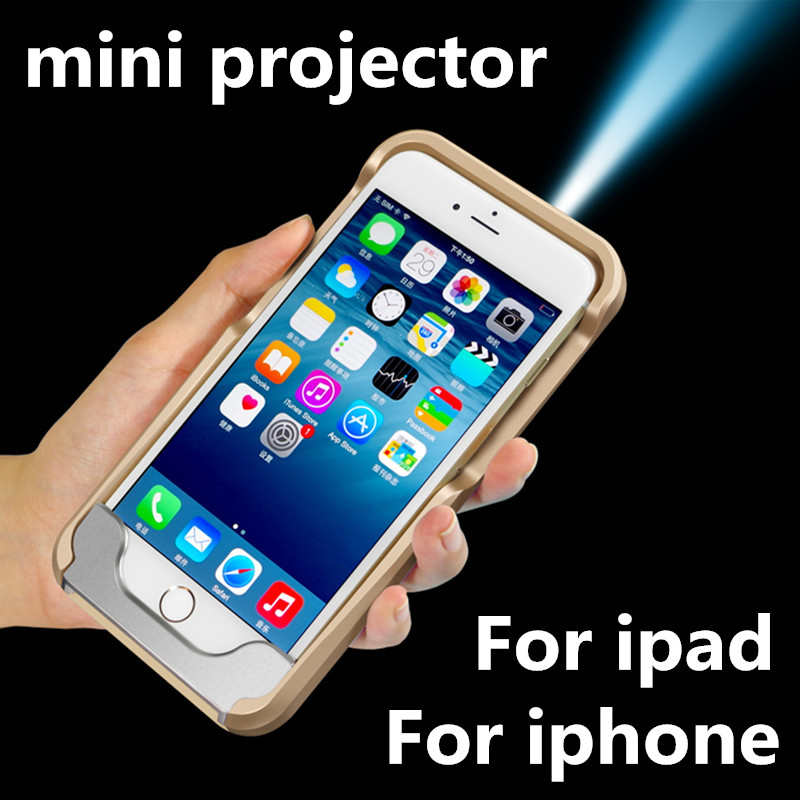 Portable mini projector for iphone 7 7 plus mobile phone for Proyector apple