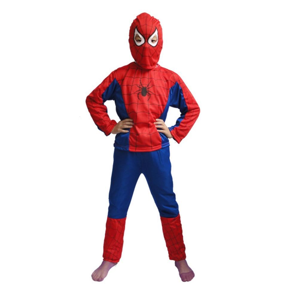 Anime Cosplay Superhero Red/Black Spiderman Costume Carnaval Karneval Halloween Costumes For Kids Carnival Baby Christmas Gift