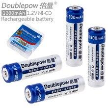 Новое поступление 4 шт. doublepow ЛСД AA Батарея 1200 мАч 1.2 В Перезаряжаемые ni-cd Батареи с 1200 цикл