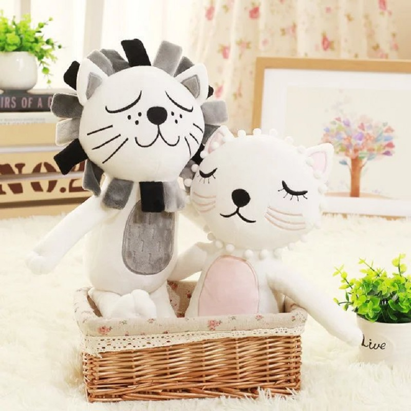 Fashion Cute 3D Animals Lion Cat Cushion Pillow Baby Room Bed Decoration Soft Artwork Do ...